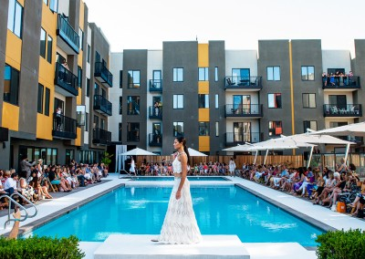 fashion show by pool